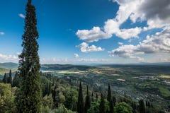 Cortona, Arezzo Tuscany, Włochy, - zdjęcie stock