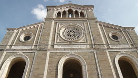 Cortona Cathedral, Italy stock footage