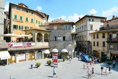 Cortona gammal stad royaltyfria foton