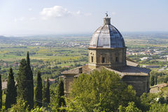 Cortona, historic church Stock Image