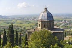 Cortona, historische kerk Stock Afbeelding