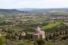 Cortona Italië Umbrianlandschap Royalty-vrije Stock Foto's