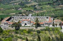 Cortona Italien kyrkogård Royaltyfri Foto