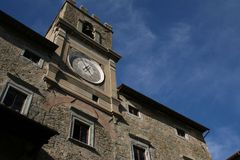 Cortona, Italy, City Hall. The old building hostinig the City Hall of Cortona, Italy Royalty Free Stock Images
