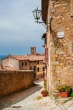 Cortona medieval town in Tuscany Royalty Free Stock Image
