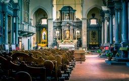 Cortona San Francesco church interior Royalty Free Stock Images