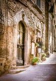 Cortona street in Tuscany Royalty Free Stock Photos