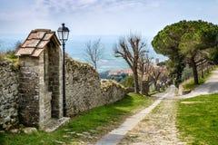 Cortona Tuscany, Italien, 12th-16th århundrade Royaltyfri Foto