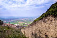 Cortona Tuscany, Italien, 12th-16th århundrade Arkivfoton