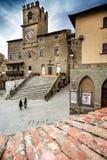 Cortona Tuscany, Italien, 12th-16th århundrade Royaltyfri Fotografi