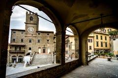 Cortona Tuscany, Italien, 12th-16th århundrade Royaltyfria Foton