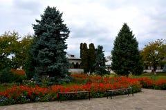 Cortyard του μοναστηριού Zamfira Στοκ Φωτογραφίες