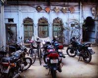 Cortyard in altem Delhi lizenzfreies stockbild