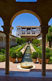 Cortyard in Generalife , Granada, Spain Royalty Free Stock Photo