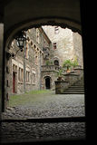 Cortyard im Schloss Lizenzfreie Stockbilder