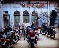 Cortyard in Old Delhi. Simple courtyard in Old Delhi royalty free stock image