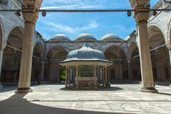 Cortyard of Sehzade Mosque in Istanbul. Turkey Stock Photos