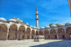 Cortyard Suleymaniye meczet Zdjęcie Royalty Free