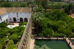Cortyards von Alcazar von Cordoba, Spanien Lizenzfreies Stockfoto
