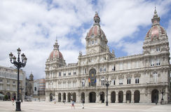 A Coruña City Hall, Spain stock photos