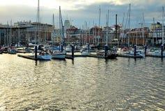 A coruña Port. Bay and port in A Coruña, Spain royalty free stock photos