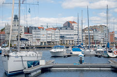 A Coruña port, Spain Royalty Free Stock Photo