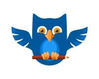 Coruja azul ilustração royalty free