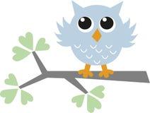 coruja azul pequena do asweet Imagens de Stock Royalty Free