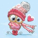 Coruja bonito dos desenhos animados Fotografia de Stock Royalty Free