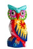 Coruja colorida da decoração de madeira foto de stock