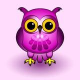 Coruja cor-de-rosa Imagem de Stock