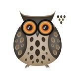 Coruja de águia engraçada Imagens de Stock Royalty Free