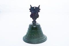 Coruja de bronze de Bell Foto de Stock Royalty Free