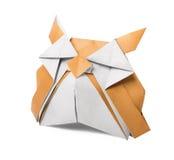 Coruja de papel velha do origâmi Fotografia de Stock