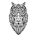 Coruja decorativa. Teste padrão étnico. Imagens de Stock