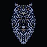 Coruja decorativa Teste padrão étnico Fotografia de Stock Royalty Free