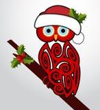 Coruja do Natal Imagem de Stock Royalty Free