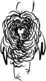Coruja irritada Ilustração do Vetor