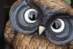 Coruja pequena bonito com olhos grandes Imagem de Stock