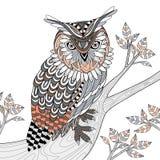 Coruja sábia ilustração royalty free