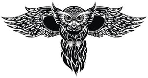 Coruja Tatuagem Design Foto de Stock Royalty Free