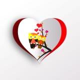 Corujas no amor Fotos de Stock