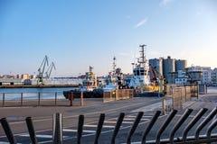coruna losu angeles port Spain zdjęcia stock