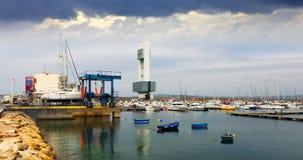 A Coruna port  in grey day.  Galicia Stock Photography
