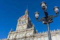 A Coruna Town Hall in Galicia, Spain. Royalty Free Stock Photos