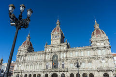 A Coruna Town Hall in Galicia, Spain. Stock Image