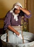 Corvées victoriennes de blanchisserie photo libre de droits