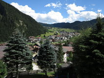 Corvara in Badia (Alta Badia), Italia, montagne di Dolomiten, Sassongher Immagine Stock Libera da Diritti