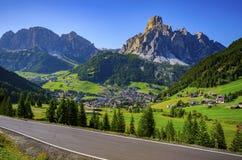 Corvara, Dolomit, Italien stockbild