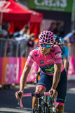 Corvara, Italia 21 de mayo de 2016; Andrey Amador, ciclista profesional, pasa la meta y perdió su jersey rosado en el macho de la Imagenes de archivo